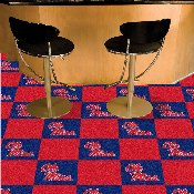 Ole Miss 18x18 Carpet Tiles