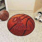 Ole Miss Basketball Mat 27 diameter