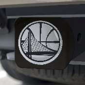 NBA - Golden State Warriors Black Hitch Cover 4 1/2x3 3/8