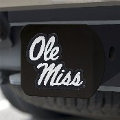 Ole Miss Black Hitch Cover 4 1/2x3 3/8