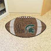 Michigan State Southern Style Football Rug 20.5x32.5