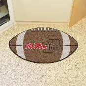 Ole Miss Southern Style Football Rug 20.5x32.5