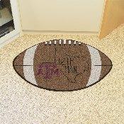 Texas A&M Southern Style Football Rug 20.5x32.5