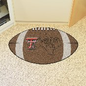 Texas Tech Southern Style Football Rug 20.5x32.5