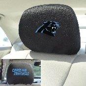 NFL - Carolina Panthers Head Rest Cover 10Inchx13Inch - 2 Pcs Per Set