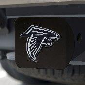 NFL - Atlanta Falcons Hitch Cover - Chrome on Black 3.4