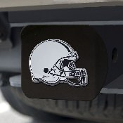 NFL - Cleveland Browns Hitch Cover - Chrome on Black 3.4