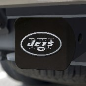 NFL - New York Jets Hitch Cover - Chrome on Black 3.4
