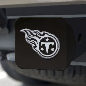 NFL - Tennessee Titans Hitch Cover - Chrome on Black 3.4