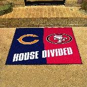 Bears - 49ers House Divided Rug 33.75x42.5