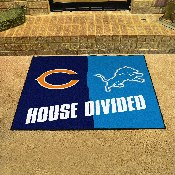 NFL - Bears - Lions House Divided Rug 33.75x42.5
