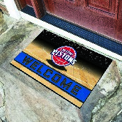 NBA - Detroit Pistons 18x30 Crumb RubberDoor Mat