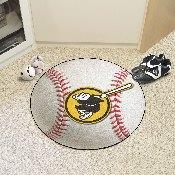 MLB - San Diego Padres Brown/Yellow Baseball Mat 27 diameter