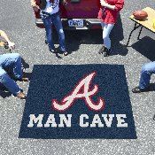 MLB - Atlanta Braves Man Cave Tailgater Rug 5'x6'