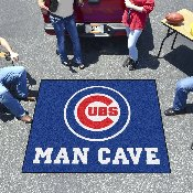 MLB - Chicago Cubs Man Cave Tailgater Rug 5'x6'