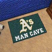 MLB - Oakland Athletics Man Cave Starter Rug 19x30