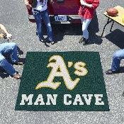 MLB - Oakland Athletics Man Cave Tailgater Rug 5'x6'