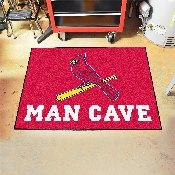 MLB - St. louis Cardinals Man Cave All-Star Mat 33.75x42.5