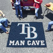 MLB - Tampa Bay Rays Man Cave Tailgater Rug 5'x6'