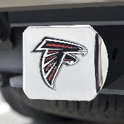 NFL - Atlanta Falcons Color Hitch Cover - Chrome3.4