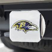 NFL - Baltimore Ravens Color Hitch Cover - Chrome3.4
