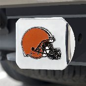 NFL - Cleveland Browns Color Hitch Cover - Chrome3.4