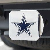 NFL - Dallas Cowboys Color Hitch Cover - Chrome3.4