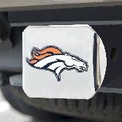 NFL - Denver Broncos Color Hitch Cover - Chrome3.4