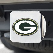 NFL - Green Bay Packers Color Hitch Cover - Chrome3.4