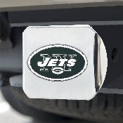 NFL - New York Jets Color Hitch Cover - Chrome3.4