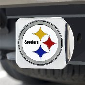 NFL - Pittsburgh Steelers Color Hitch Cover - Chrome3.4