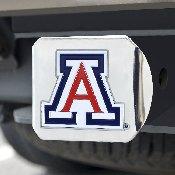 University of Arizona Color Hitch Chrome 3.4x4
