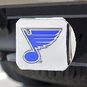 NHL - St. Louis Blues Color Hitch Chrome 3.4x4
