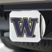 University of Washington Color Hitch Cover - Chrome 3.4