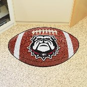 Georgia Black New Bulldog Football Rug 20.5x32.5