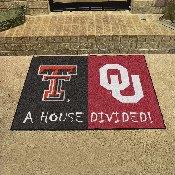 House Divided: Texas Tech / Oklahoma House Divided Rug 33.75x42.5