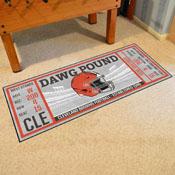 NFL - Cleveland Browns Ticket Runner 30x72