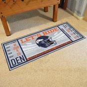 NFL - Denver Broncos Ticket Runner 30x72