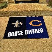 NFL - Saints - Bears House Divided Rug 33.75x42.5