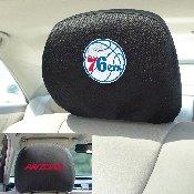 NBA - Philadelphia 76ers Head Rest Cover 10Inchx13Inch - 2 Pcs Per Set