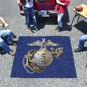 Marines 3D Logo Tailgater Rug 5'x6'