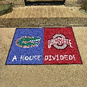 House Divided - Florida/Ohio State House Divided Mat 33.75