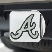 MLB - Atlanta Braves Hitch Cover - Chrome 3.4