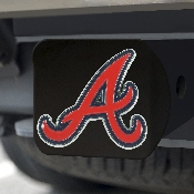 MLB - Atlanta Braves Color Hitch - Black 3.4