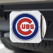 MLB - Chicago Cubs Color Hitch - Chrome 3.4