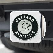 MLB - Oakland Athletics Hitch Cover - Chrome 3.4
