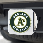 MLB - Oakland Athletics Color Hitch - Chrome 3.4