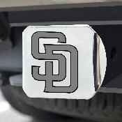 MLB - San Diego Padres Hitch Cover - Chrome 3.4