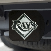 MLB - Tampa Bay Rays Hitch Cover - Black 3.4