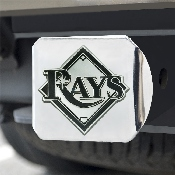 MLB - Tampa Bay Rays Hitch Cover - Chrome 3.4